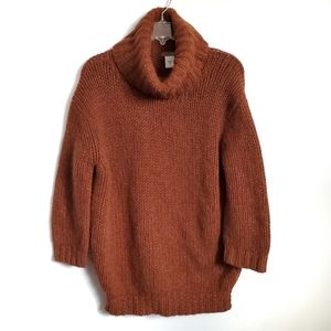 Jcrew Rust Wool Chunky Oversized Sweater